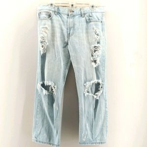 Angry Rabbit Light Wash Distressed Style Jeans